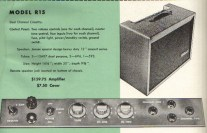 This extract from DeArmond's tube amps catalog shows the control panel layout for this amp.