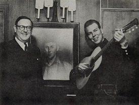 Mort Nasatir with a young Hank Williams Jr.