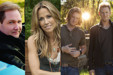 Steve Wariner, Sheryl Crow, FGL's Tyler Hubbard and Brian Kelley