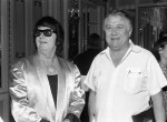 Jack Clement with Roy Orbison in 1986. Photo Alan Mayor