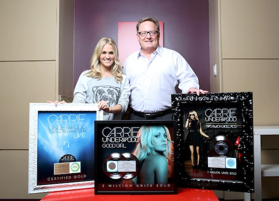 Pictured (L-R): Carrie Underwood and Gary Overton