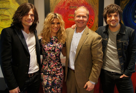 Pictured (L-R): Reid Perry, Kimberly Perry, Troy Tomlinson, and Neil Perry