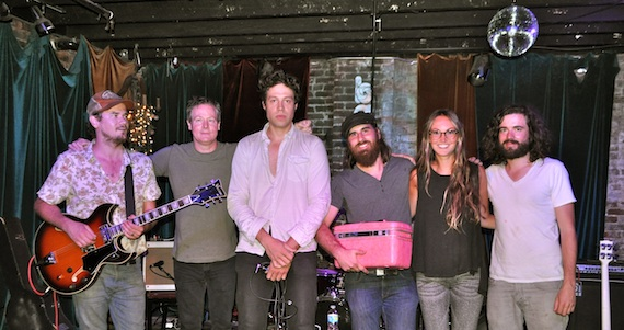 Pictured: The Basement's Mike Grimes (second from left), ASCAP's Evyn Mustoe (second from right) with Clear Plastic Masks