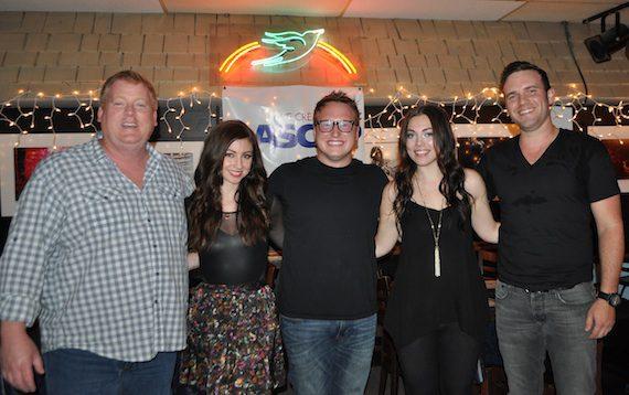 Pictured (L-R): ASCAP's Mike Sistad, Allison Veltz, Brandon Hamilton, Emily Weisband & Steven Clawson
