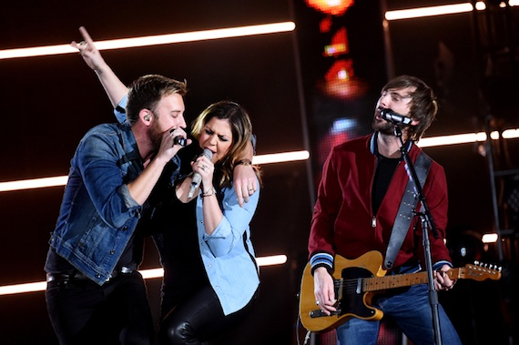 Lady Antebellum perform during the American Country Countdown Awards.