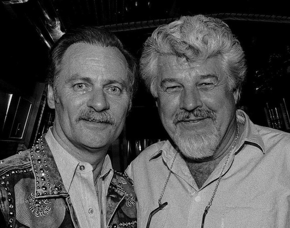 Pictured (L-R): Vern Gosdin and Bob Montgomery in 1989. Photo: Alan Mayor