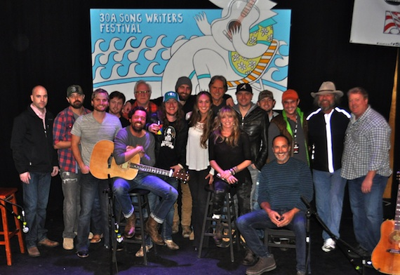 Pictured (L-R): ASCAP's Robert Filhart, Jonathan Singleton, Hunter Phelps, Jameson Rodgers, Brad Tursi (seated), Tony Lane, Jaren Johnston, Ryan Hurd, ASCAP's Evyn Mustoe, Marc Beeson, Deana Carter (seated), Jeremy Stover, Brandon Lay, Mark D. Sanders (seated), ASCAP's Michael Martin, Earl Bud Lee and ASCAP's Mike Sistad