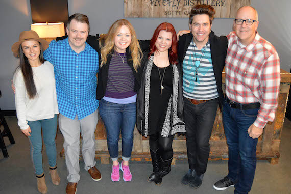 Pictured (L-R): Genevieve Jewell, Manager; Ben Vaughn, Warner/Chappell; Alicia Pruitt, Warner/Chappell; Marylynne Stella, Brad Stella, Phil May, Warner/Chappell