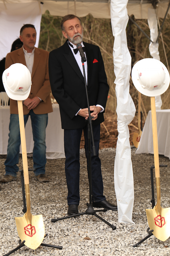 Ray Stevens during the groundbreaking ceremony for Cabaray. Photo: Moments By Moser