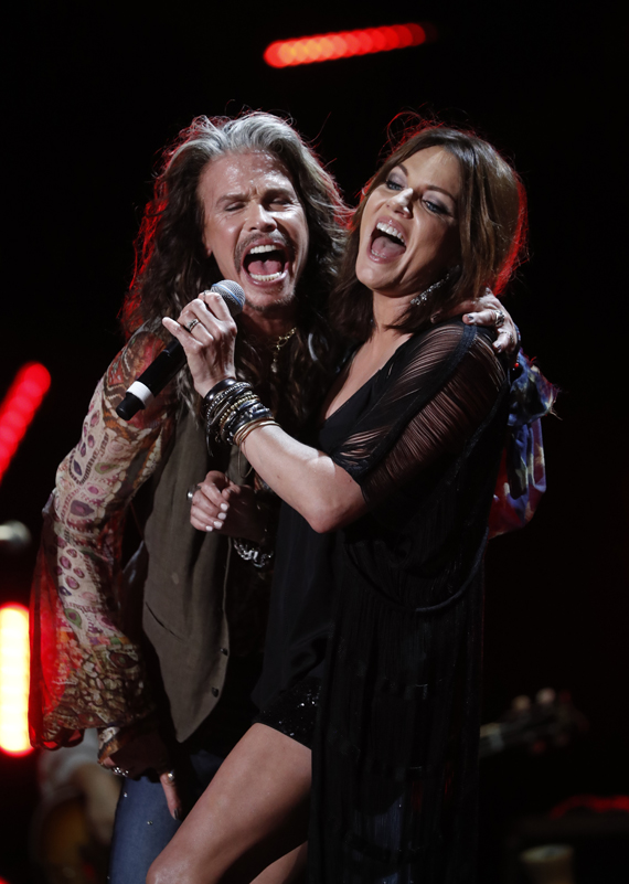 Steven Tyler and Martina McBride. Photo: John Russell/CMA