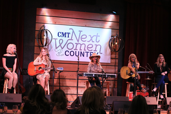 Pictured (L-R): RaeLynn, Margo Price, Lucie Silvas, Lindsay Ell, Lauren Alaina. Photo: Bev Moser