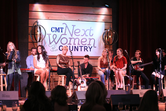 Pictured (L-R): Tara Thompson, Mickey Guyton, Maggie Rose, Maddie & Tae, Aubrie Sellers. Photo: Bev Moser