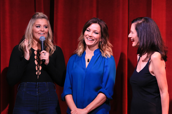 Pictured (L-R): Lauren Alaina, Martina McBride, CMT's Leslie Fram. Photo: Bev Moser