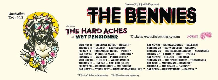 the bennies tour