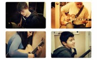 Collage of Guitar Students