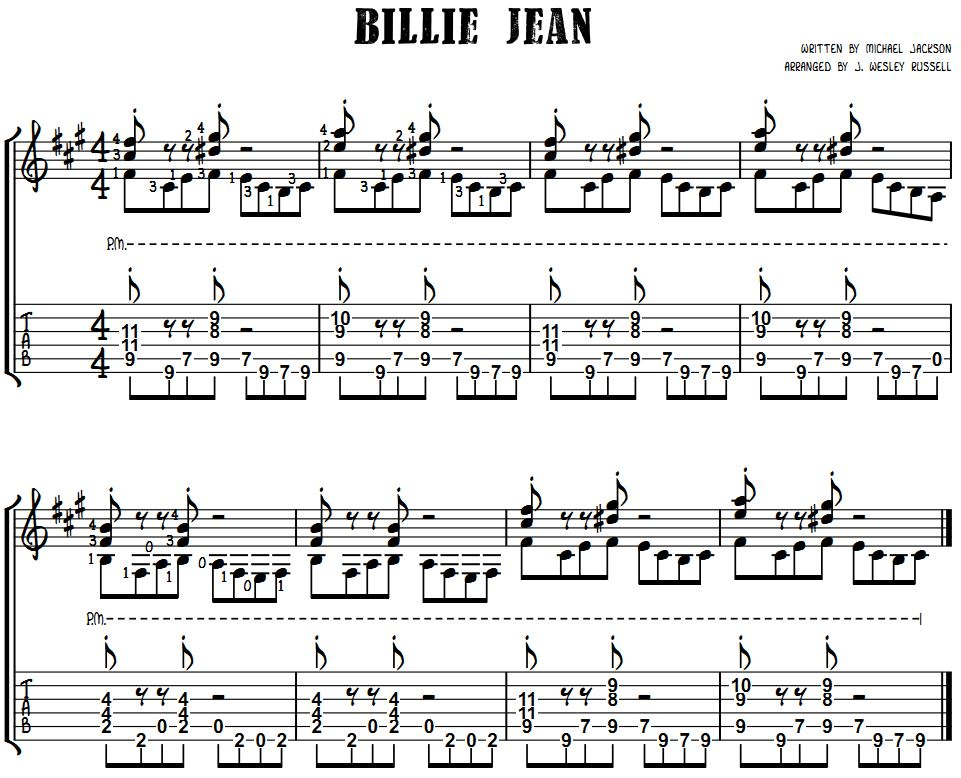 Billie Jean Sheet Music Ibovnathandedecker