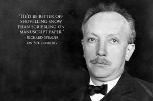 Richard Strauss about Schoenberg