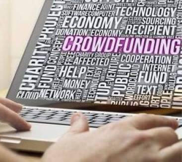 Crowdfunding On Laptop
