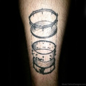 50 Nice Music Drum Tattoos