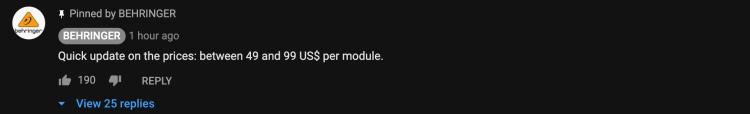Behringer System 100 YouTube