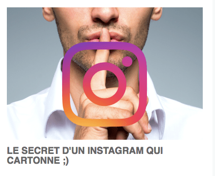 Le secret d'Instagram ...