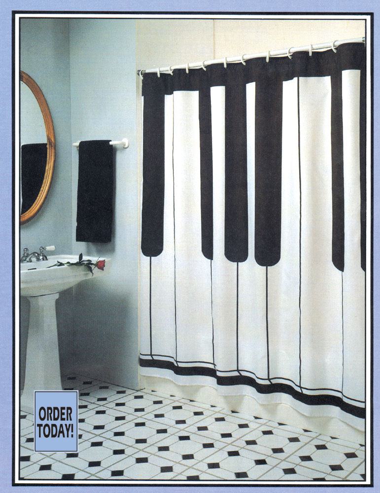 Buy Keyboard Shower Curtain Music Gift Music Novelty