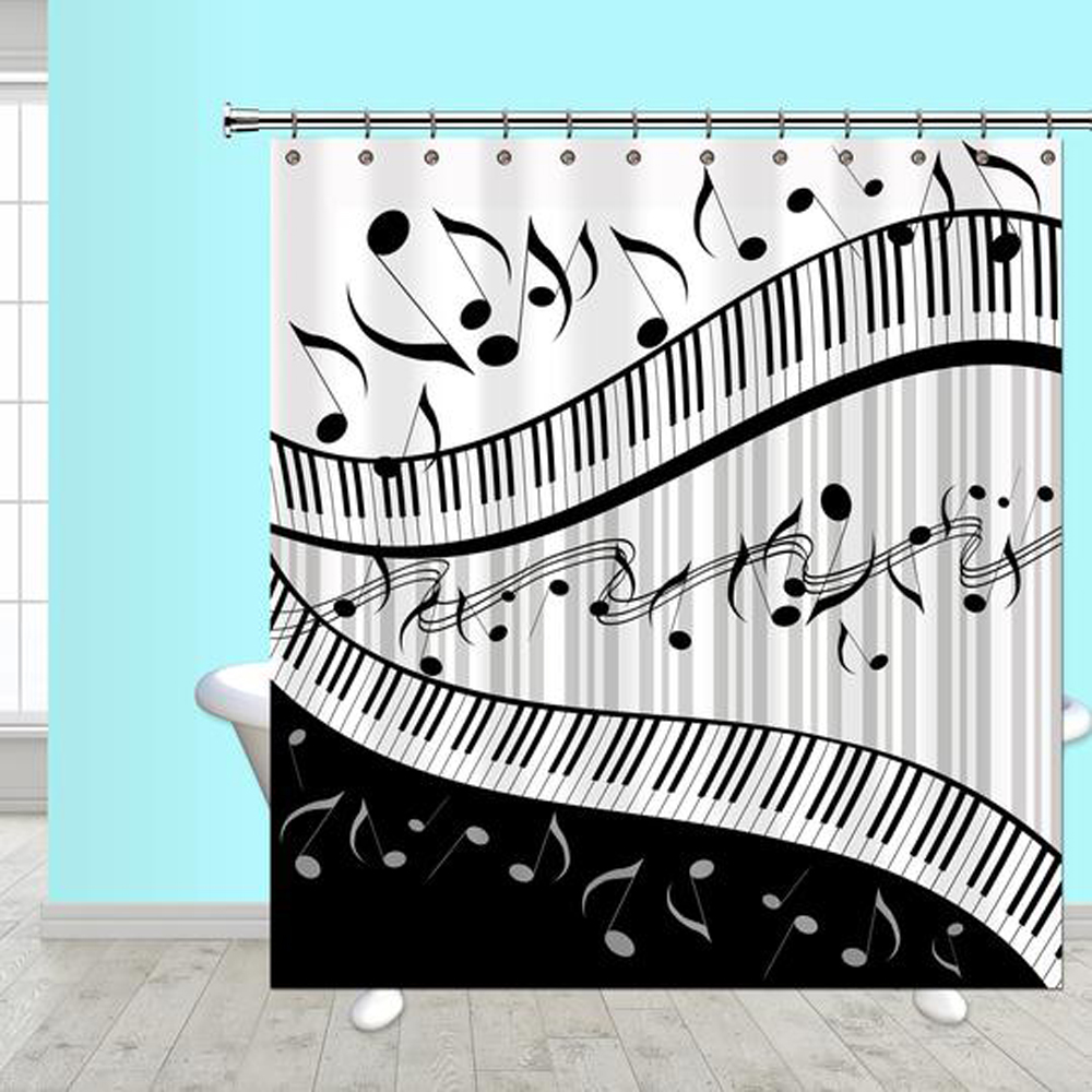 Buy Jazzy Music Shower Curtain Music Gift Music Novelty
