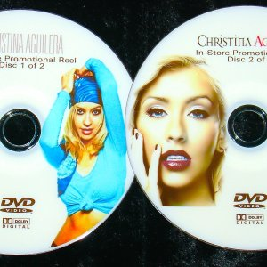 CHRISTINA AGUILERA In-Store Promotional Reel  38 Music Videos 2 DVD Set