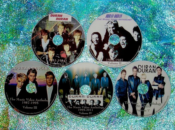 "Duran Duran, Powerstation, Arcadia, John, Andy Solo, Neurotic Outsiders & The Devils Music Video Anthology & Music Video Remix 1981-2016 (5 DVD Set just OVER 9 Hours) includes ""Last Night In The City"", ""Pressure Off"", GIRL PANIC! (4 Vers) SUNRISE (6 Vers)"