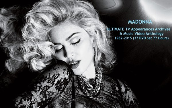 MADONNA ULTIMATE TV Appearances Archives & Music Video Anthology 1982-2015 (37 DVD Set 77 Hours)