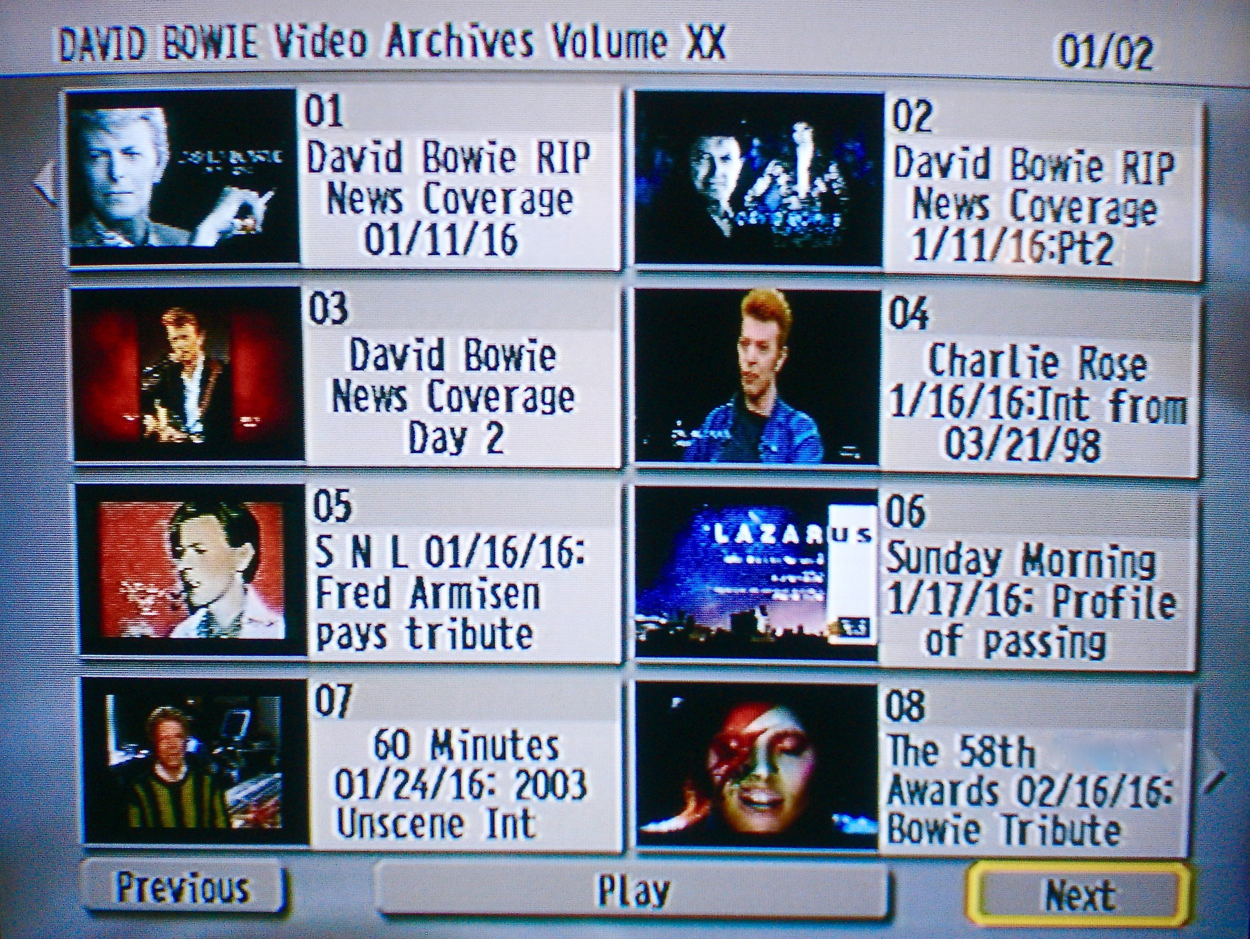 David Bowie The Video Archives Retrospective Collection 1973-2017 21 DVD  Set (41 Hours) UPDATED includes tributes to David including Lady Gaga