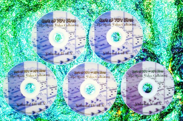 Best of 70's and 80's Disco / Dance (Various) Remix Music Video Anthology Volumes 1, 2, 3, 4 & 5 (5 DVD Set 8 Hrs.) (DONNA SUMMER, GRACE JONES, RICK JAMES, THE JACKSONS, BEE GEES, THE WEATHER GIRLS, VILLAGE PEOPLE, SYLVESTER, GLORIA GAYNOR, Earth Wind
