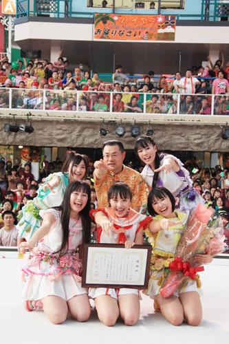 <写真>福島で応援ライブを行ったももクロ(2012年2月13日)