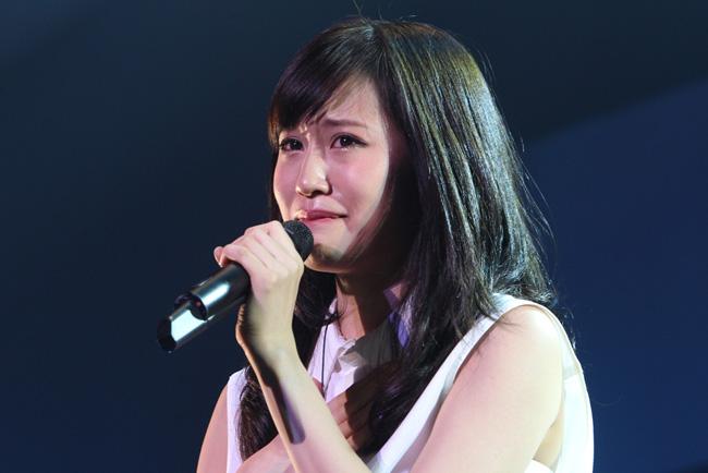 <写真>自身初のワンマン開催で涙をみせる前田敦子