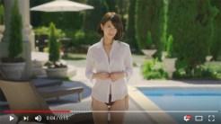 YouTube上で公開されている、吉崎綾が出演する前回のCM動画のキャプチャー