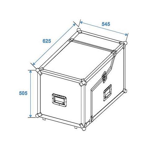 Roadinger Spezial-Mixer/CD-Player-Case 3/7/6HE « Rack de