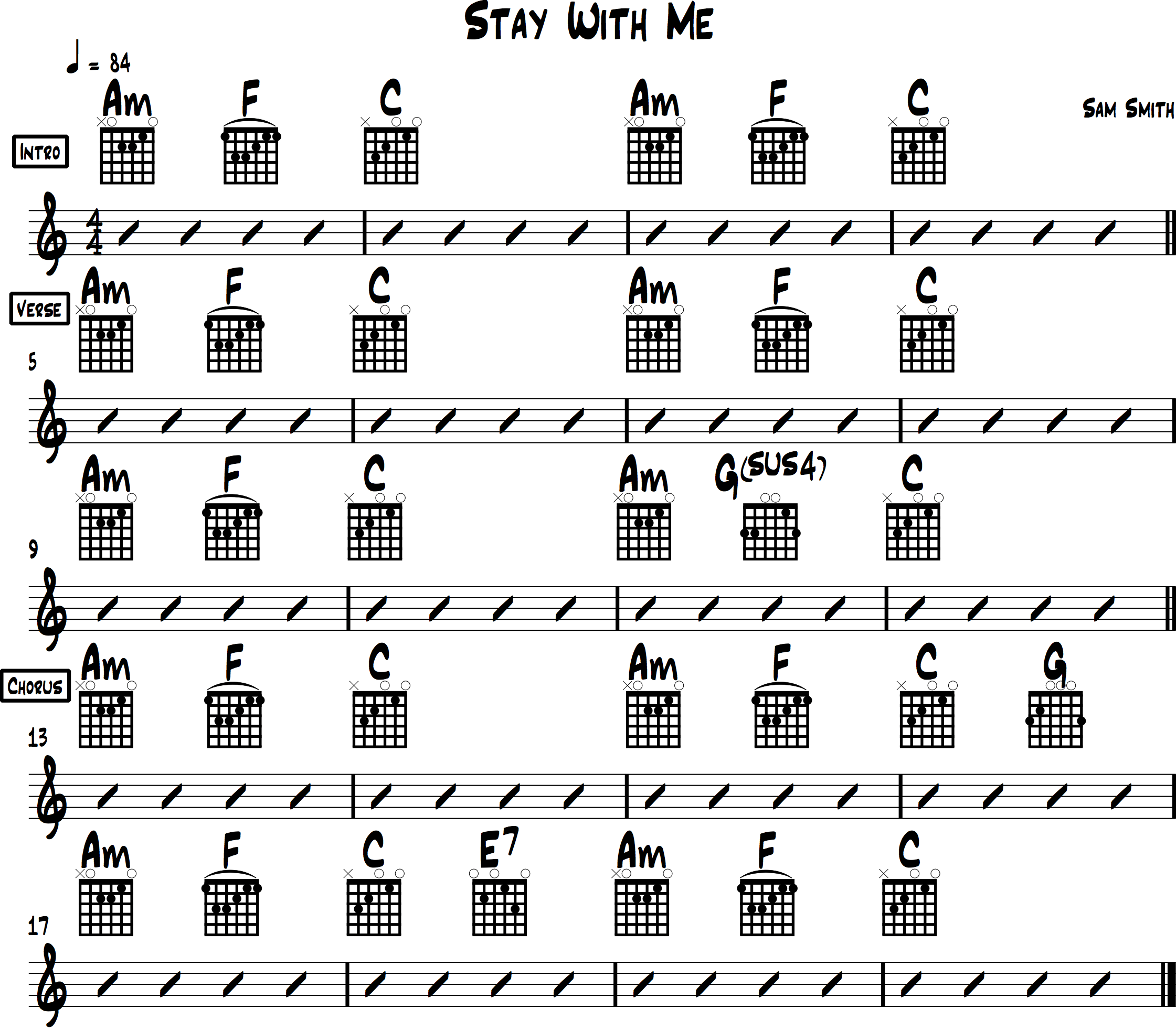 small resolution of stay with me chord chart sam smith