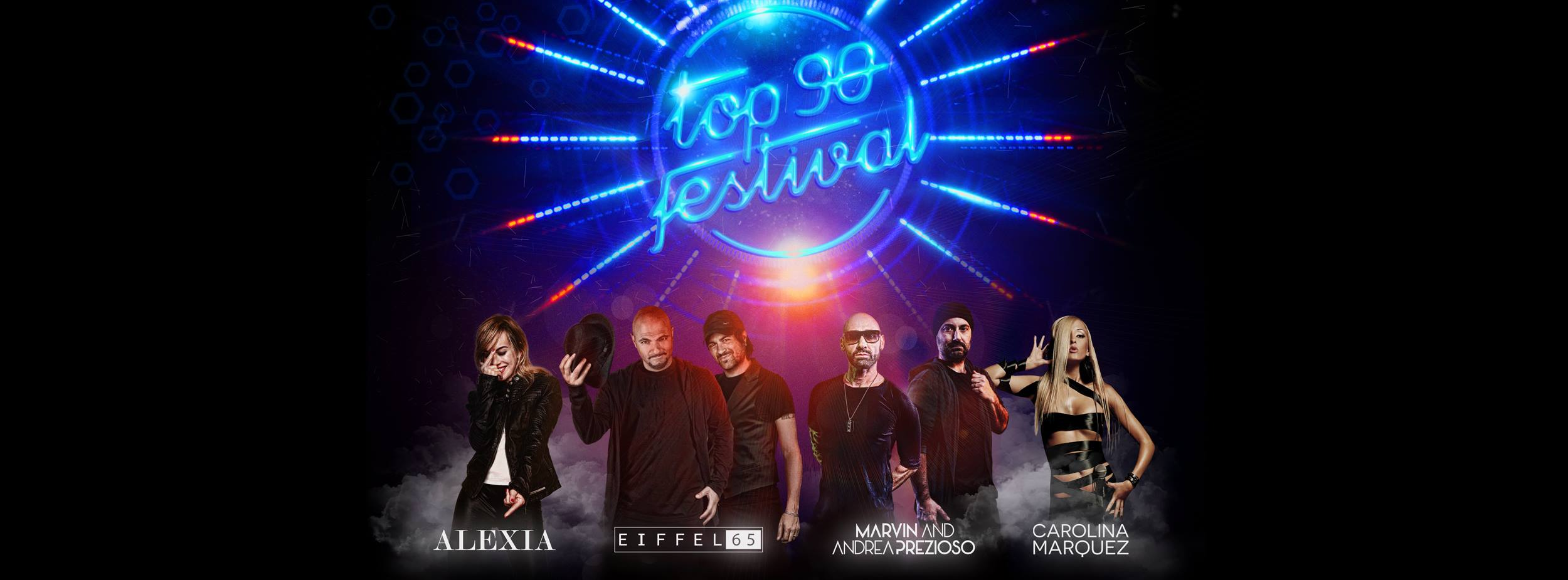 "TOP 90 FESTIVAL ""Alexia _ Eiffel 65 _ Marvin and Andrea Prezioso _ Carolina Marquez"""