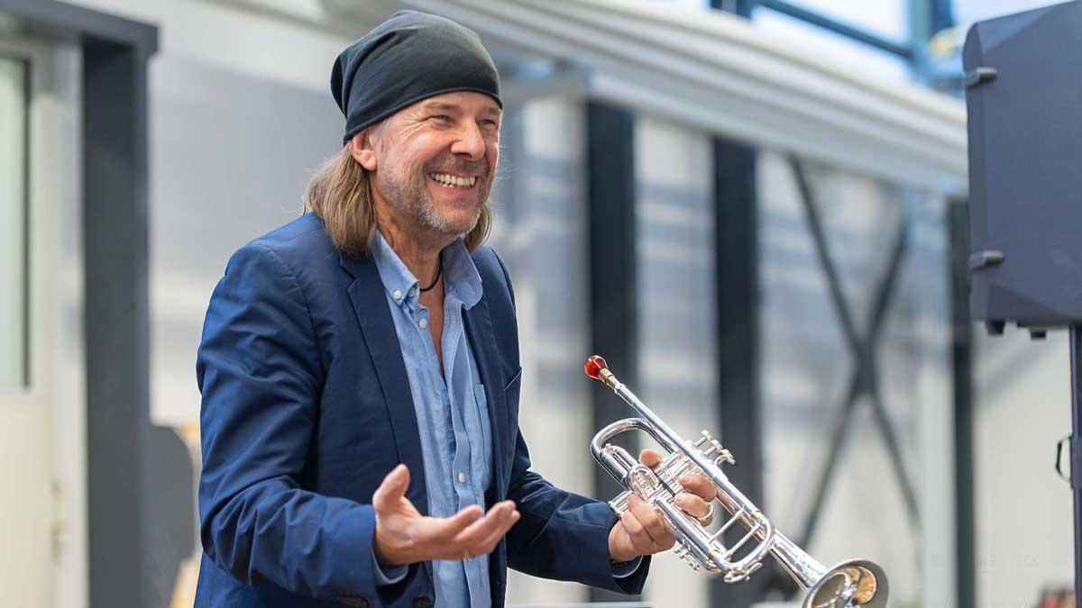 Rüdiger Baldauf, der besondere Trompetenworkshop im Musikhaus Beck