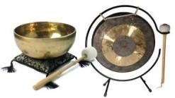 Klangschalen, Gongs