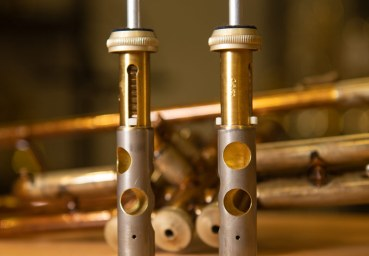 Ventilbohrungen 1 und 3 bei einer Perinét Trompete