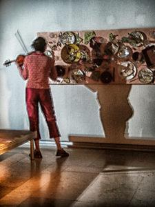 Iva Bittova in der Ostdeutschen Galerie 2002. Foto: Hufner