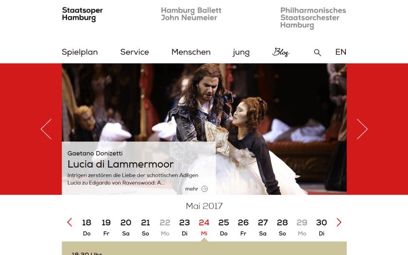Website der Hamburgischen Staatsoper. Screenshot vom 25.5.2017