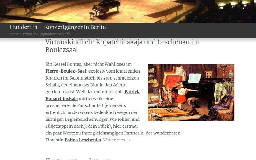 """Website """"Konzertgänger in Berlin"""""""