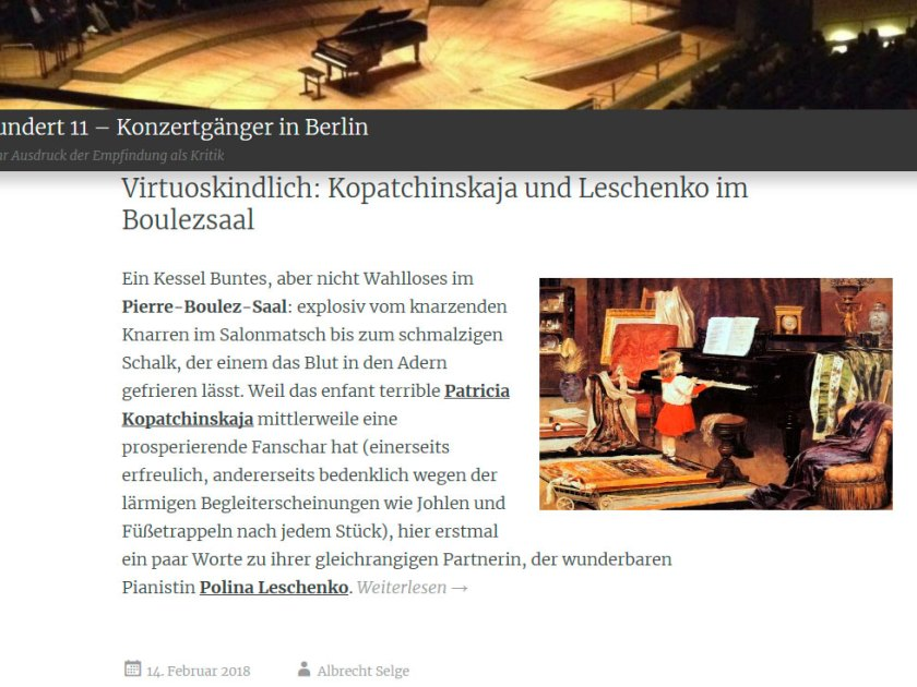 "Website ""Konzertgänger in Berlin"""