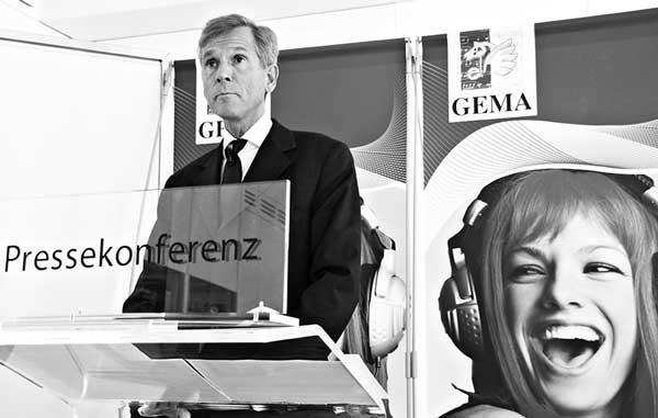 Harald Heker, Vorstandsvorsitzender der Gema in der Klemme. Foto: Hufner