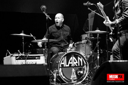 Welsh band The Alarm performed live at the O2 Academy Brisxton in London, supporting The Stranglers on their Black and White tour.