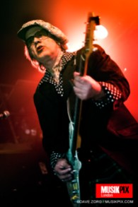 London-based Rock n Roll trio The Bermondsey Joyriders performed live at The Garage in London, supporting Chelsea.