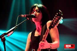 British shoegaze band Lush performed live at The Roundhouse in Camden Town, London; returning to the big stages after almost 20 years.