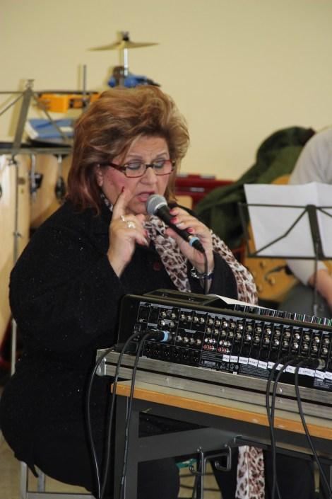 Joy Fleming bei der Generalprobe in der Humboldtschule Plankstadt